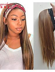 cheap -new style headband, chemical fiber headgear, wig, female fashion long straight hair, gradient color headscarf