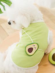 cheap -Dog Cat Shirt / T-Shirt Vest Avocado Fruit Basic Adorable Cute Casual / Daily Dog Clothes Puppy Clothes Dog Outfits Breathable Blue Orange Green Costume for Girl and Boy Dog Cotton Fabric XS S M L XL