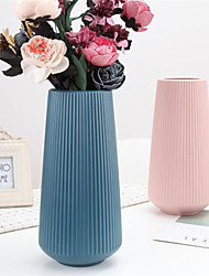 cheap -Large Simple Plastic Vase With Dry And Wet Flowers And Northern European Decorative Imitation Glaze Vase 1pc 11x15x30cm