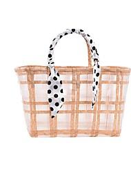 cheap -Women's Bags Top Handle Bag Straw Bag Holiday Date 2021 Straw Bag Handbags Blue Blushing Pink Khaki Green