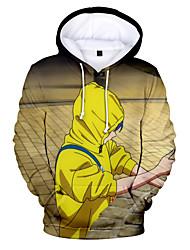 cheap -Inspired by wonder egg priority Cosplay Cosplay Costume Hoodie Terylene 3D Printing Hoodie For Women's / Men's