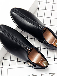 cheap -Men's Loafers & Slip-Ons Tassel Loafers Comfort Loafers Business Casual Classic Daily Party & Evening Walking Shoes Nappa Leather Cowhide Breathable Non-slipping Wear Proof Booties / Ankle Boots Black