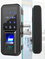 cheap -bangchen office glass door fingerprint lock single and double door no-opening password lock smart electronic lock sliding access control lock