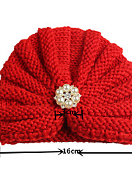 cheap -2017 new amazon european and american solid color baby indian hat with diamond baby pullover hat