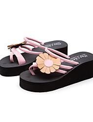 cheap -Women's Sandals Wedge Heel Pointed Toe EVA(ethylene-vinyl acetate copolymer) Solid Colored Pink / White Black