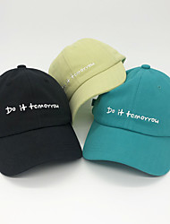 cheap -1pcs Kids / Toddler Unisex Active Birthday / Casual / Daily Wear Cartoon / Letter Stylish Cotton Hats & Caps Black / Yellow / Green S