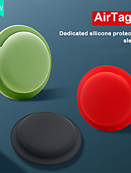 cheap -Silicone Protective Case For Airtags Key Finder Cover Anti-lost Protective Sleeve Back Adhesive Mount Soft Cover For Apple Airtags Accessories