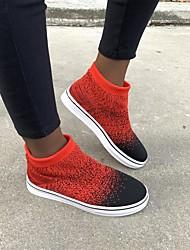 cheap -Women's Flats Flat Heel Round Toe PU Red Blue Gray