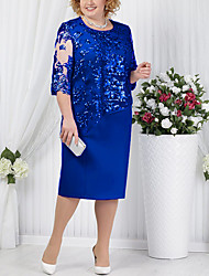 cheap -women lace mother of the bride dress long sleeve royal blue 14w