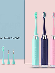 cheap -2-in-1 Automatic Sonic Electric ToothbrushVibration Type Adult Dental Scaler Soft-bristled Couple Rechargeable Convenient Toothbrush