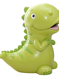 cheap -7.5 Inches Lovely Green/Yellow Dinosaur Shaped Large Size Resin Piggy Bank Coin Bank Money Bank Best Christmas Birthday Gifts for Kids Boys Girls Home Decoration