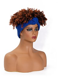 cheap -headscarf wigs european and american cross-border new wigs women's african short curly hair chemical fiber headgear factory straight hair