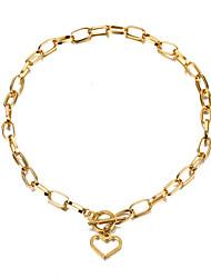 cheap -simple necklace design love necklace titanium steel non-fading clavicle chain