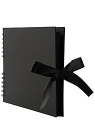 cheap -Factory Direct Coil Diy Album Bbow Ribbon Handmade Photo Album Kraft Paper Scrapbook