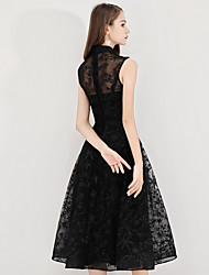 cheap -black skirt evening dress women's 2020 autumn and winter new birthday party dresses, mid-length dresses, ladies are thin