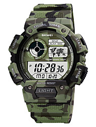 cheap -SKMEI Men's Military Watch Digital Digital Sporty Camouflage Calendar / date / day Chronograph Alarm Clock / One Year / Silicone