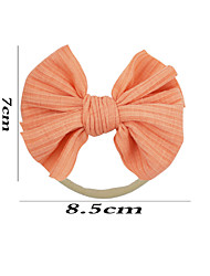 cheap -16 colors european and american children's striped cloth bowknot small solid color cloth nylon headband hair accessories baby headband