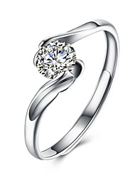 cheap -Ring Cubic Zirconia Geometrical Silver S925 Sterling Silver Flower Fashion 1pc 7 8 / Women's