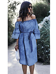 cheap -independent stand tube top sexy denim dress tie-dye elastic waist amazon europe and the united states sexy bag hip denim skirt
