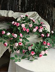 cheap -1.7m High Simulation Rose Flower Vine Artificial Flower