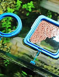 cheap -2Pcs Buoyancy Fish Food Feeding Ring Aquarium Fish Tank Small Type Tropical Fish Feeder Feeding Circle Aquarium Accessories