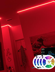 cheap -LED Strip Lights RGB 20M(4x5M) Tiktok Lights SMD2835 1200 LEDs 8mm Strip Flexible Light LED Tape Nonwaterproof DC 12V with 44Key IR Remote Controller Kit