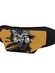 cheap -Unisex Bags Canvas Fanny Pack Zipper Animal Daily Outdoor Bum Bag MessengerBag Black Blue Yellow Army Green