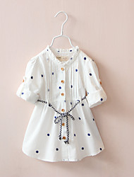 cheap -girls spring and autumn dresses ins children's clothing 2021 children's long-sleeved cotton embroidery big children's white dress