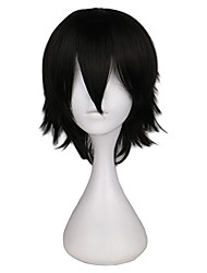 cheap -Short Straight Cosplay Wig Men Male Black High 100% Temperature Fiber Synthetic Hair Wigs