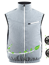 cheap -Summer Fan Cooling Vest Men Women Air Conditioning Cool Jacket Coat Top Outdoor Sun Protection Jacket USB Charing Waistcoat