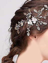 cheap -Wedding Bridal Copper wire Headbands / Headdress / Headpiece with Crystal / Rhinestone / Flower / Metal 1 PC Wedding / Party / Evening Headpiece