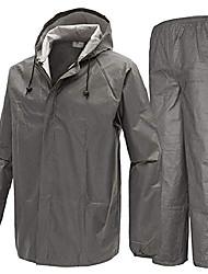 cheap -men's rain jacket & pants waterproof foul weather rainwear for cycling hiking travel (non-woven grey rain suit, x-large)