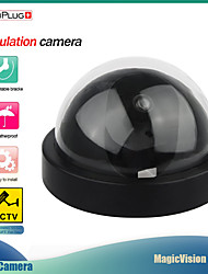 cheap -SecuPlug Home Dummy Dome Security Camera Infrared Wireless CCTV Surveillance Fake Camera Outdoor False Simulation Camera