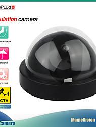 cheap -secuplug+ home dummy dome security camera infrared wireless cctv surveillance fake camera outdoor false simulation camera