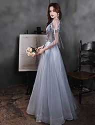 cheap -blue evening dress celebrity fairy temperament atmosphere heavy industry banquet sexy elegant thin sling birthday dress dress