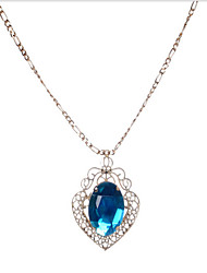 cheap -Women's Cubic Zirconia Pendant Necklace Retro Heart Modern Alloy Rose Gold 45+5 cm Necklace Jewelry 1pc For Anniversary Street Birthday Party Festival