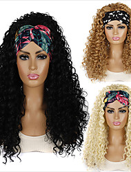cheap -hairband wig headgear export long curly hair deep volume chemical fiber wig headgear foreign trade africa headband wig cover