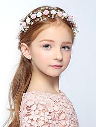 economico -versione per bambina di gioielli da sposa copricapo fatto a mano fiore in ceramica morbida accessori da sposa fiore rosa accessori per capelli set stile matrimonio