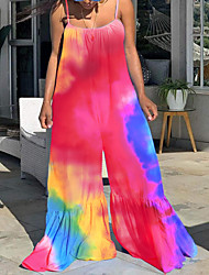 cheap -2021 european and american new cross-border independent station hot selling hot style hanging wide loose large size flared trousers printed jumpsuit