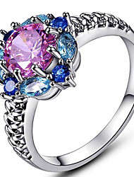 cheap -925 sterling silver garnet filled ring flower shaped band size 8