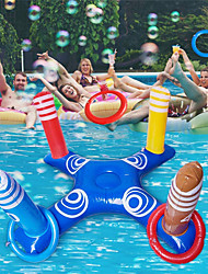 cheap -Inflatable Ring Toss Pool Game Toys with 4 Pcs Floating Swimming Pool Ring for Multiplayer Water Pool Game Outdoor Kid Family Pool Toys and Water Fun Floats Play Game Beach Party for Adults
