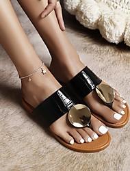 cheap -Women's Flats Flat Heel Faux Leather Black Brown Beige