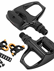 cheap -xewea road bike pedals cleats set for shimnao spd sl clipless pedals, lightweight self-locking cycling pedals for shimnao 105 sm-sh system shoes fitness peloton spin bike (r540 - aluminum alloy)
