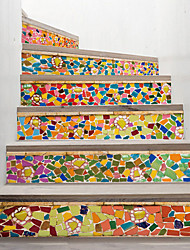 cheap -Creative 3d Staircase Sticker Stained Glass Diy Decoration Home Sticker Waterproof Wall Sticker