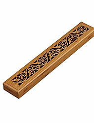 cheap -vintage wooden incense burner, joss stick cone holder with fire protection layer, smoke box, buddhist temple accessories,e