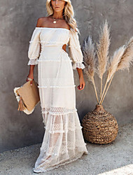 cheap -spring/summer 2021 new cross-border wrap chest stretch dress amazon sexy lace big swing dress women's clothing