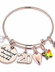 cheap -m mooham 20th birthday gifts for women daughter, charm bracelets 20 birthday gifts for women her daughter teenage girls granddaughter sister inspirational graduation gifts