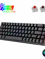 cheap -RK68 (RK855) 65% Bluetooth RGB Hot Swappble Mechanical Gaming Keyboard Compact 68 Keys Wireless Gamer Keyboard for PC Laptop