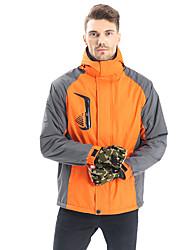 cheap -Women's Hiking Softshell Jacket Hiking 3-in-1 Jackets Ski Jacket 3-in-1 Jacket Winter Jacket Top Outdoor Lightweight Breathable Quick Dry Sweat wicking Autumn / Fall Winter Light Blue Sapphire orange
