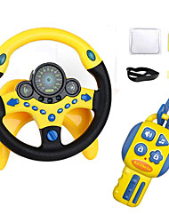 cheap -Steering wheel toy - Simulated Driving Controller with car Keys,Children's Copilot Educational Toy with Lights Music Driver - Old Best Gift for Kids 2 Years +